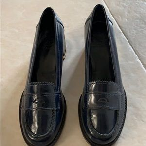 Tory Burch Navy blue classic loafer
